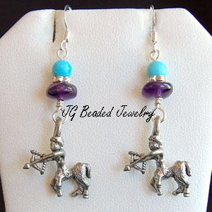 Sagittarius Zodiac Earrings