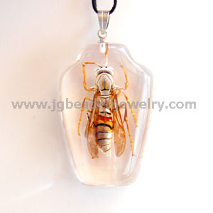Real Tiger Wasp Necklace