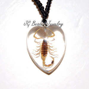 Scorpion Heart Necklace