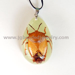Lychee Stink Bug Glow in the Dark Necklace