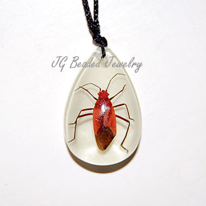 Real Bug Glow Necklace