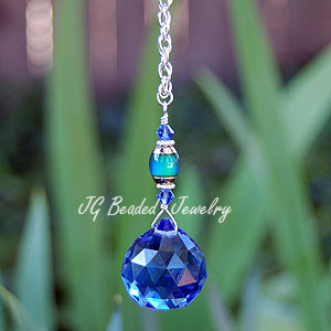 Mood Bead Blue Crystal Decoration
