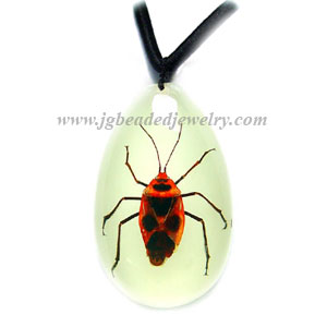 Glow in the Dark Stink Bug Necklace