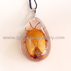 Real Lychee Stink Bug Necklace