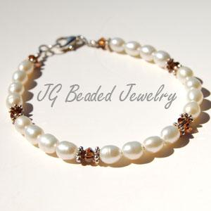 Topaz Swarovski Pearl Bracelet