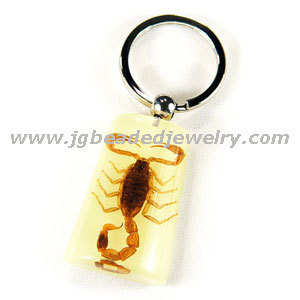 Glow in the Dark Real Scorpion Keychain