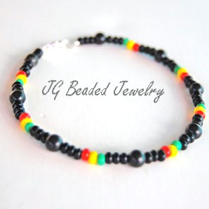 Rasta Bracelet with Black Onyx
