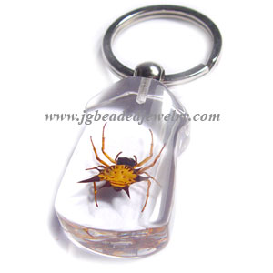 Real Spider Keychain