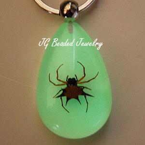 Spiny Spider Glow Key Chain