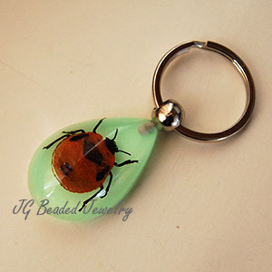 Glow in the Dark Flower Bug Keychain