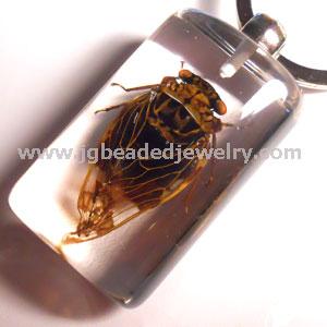 Real Cicada Keychain